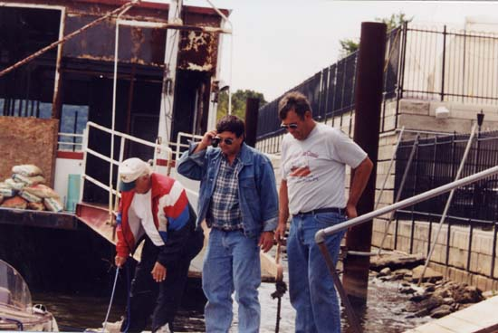 The Century Arabian running at speed down river. Ron Pitzer boat blew a head ...